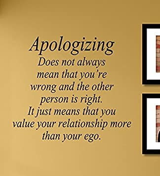 Amazon.com: Apologizing does not always mean that you\'re ...