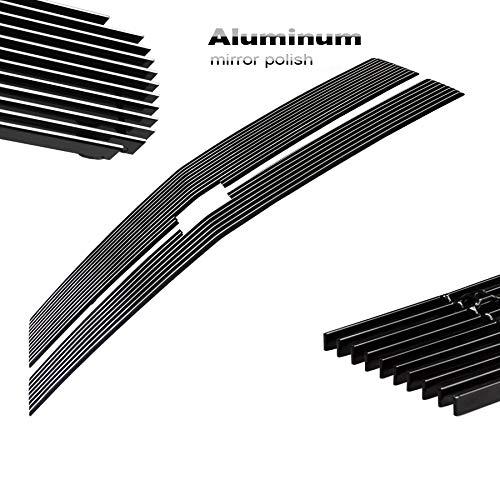 2pcs Silver Billet Grille Upper Grill Insert Fits 14-15 Silverado 1500 Z71 Only ()