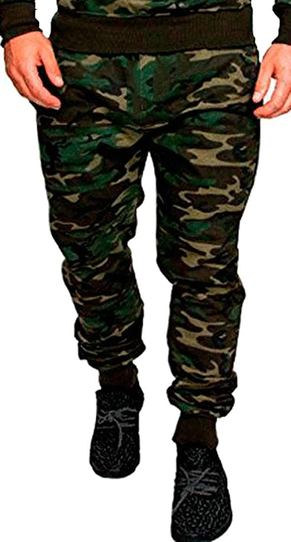 Wofupowga Mens Sweatpant Camouflage Breathable Outdoor Casual Sport Pants