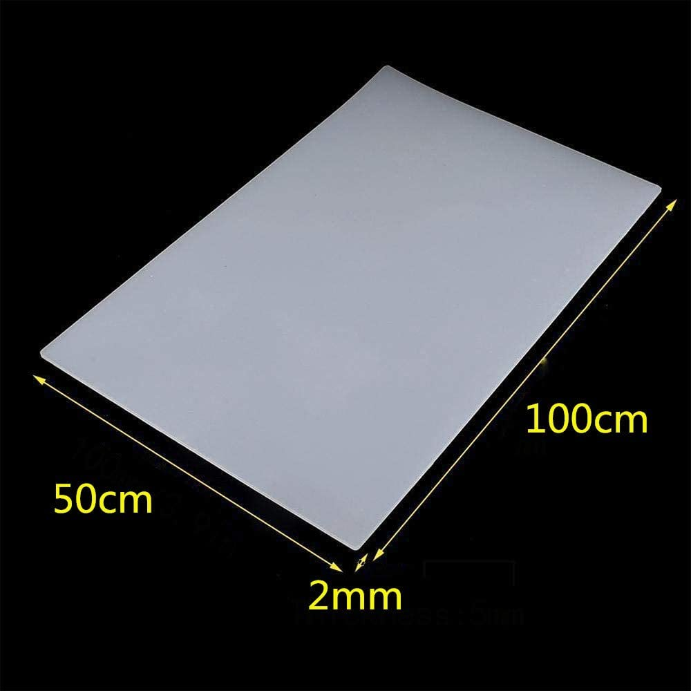 LOKIH Clear Silicone Rubber Sheet Plate Transparent Heat Resistant Gasket