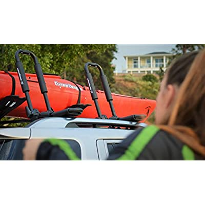 Image of Swagman Folding Contour Roof Mount Kayak Rack Canoeing