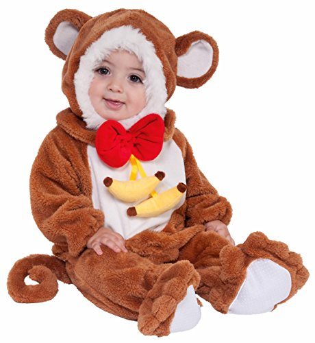 Cuddly Monkey Toddler Costumes (Forum Novelties Baby Boy's Plush Cuddlee Monkey Costume, Multi, 1-2 Years)