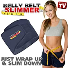 Belly Belt Slimmer Black One Size Fits Up To 50 Inch Waist Burn Calories Melt Fat Belly Burner Weight Loss Health Fitness Exercise Trim Waist Thin Stomach Lose Pounds Fat As Seen On TV