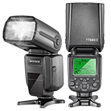 Neewer® 5500k 2.4G Wireless Professional Speedlight Flashlight NW TT660 II with Flash Diffuser for Canon T5i T4i T3i T2i T1i SL1, EOS 700D 650D 600D / EOS Rebel T3i, 550D / Digital Rebel T2i, 500D / Digital Rebel T1i, 100D Nikon D3300 D3200 D3100 D3000 D5200 D5100 D5000 D7000 D710, Pentax K-m, K-r, K-x, K-01, K-5, K-7, Olympus E-M1, E-M5, E-P3, E-P5, E-PL3 and all other SLR DSLR CAMERAS Professional Photograph with Universal Hot Shoe