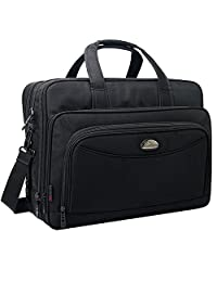 17 inch Laptop Bag, Expandable Large Briefcase, Messenger Bags for Men, Crossbody Shoulder Bag Fit up to 15.6 inch Laptop Notebook MacBook Pro Air Ultrabook