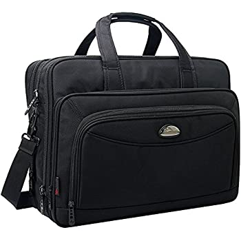 17 Inch Laptop Bag, Expandable Large Capacity Business Briefcase, 2-in-1 Messenger Bags for Men, Crossbody Travel Shoulder Bag Fit Up to 15.6 inch Laptop Notebook MacBook Pro Air Ultrabook
