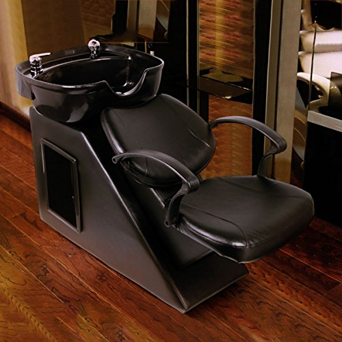 Homedex Salon Backwash Bowl Shampoo Barber Chair Sink Spa Equipment Station Unit