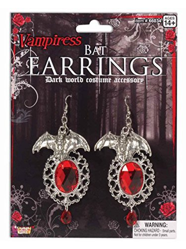 Vampiress Bat Earrings