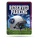 NFL Tennessee Titans 8-Inch by 11-Inch Metal Parking Sign Décor