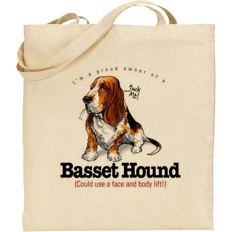 AB–spiritoso cane bassotto in cotone naturale borsa