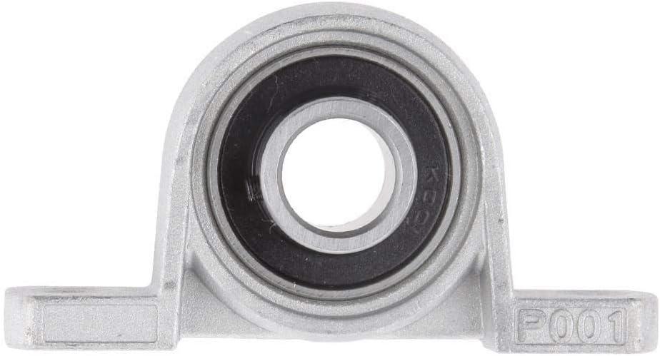 Pillow Block Mounted Support Caliber Zinc Alloy Ball Bearing Pillow Block MDD Kp08 Bore Ball Bearing 8//10//12//15//17mm Color : 17mm