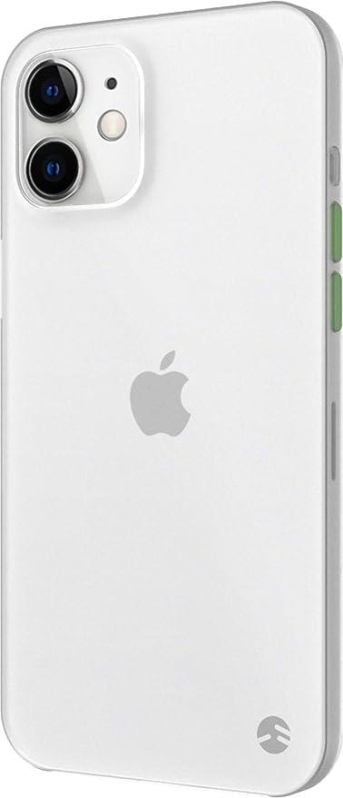 【SwitchEasy】 iPhone12mini 対応 ケース 薄型 携帯ケース 0.35mm 超薄型 シンプル 極薄 フロスト クリア カバー 指紋 防止 軽量 スリム 半透明 スマホケース [ iPhone12 mini アイフォン12 mini アイフォン12ミニ 対応 ] 0.35 トランスパレントホワイト
