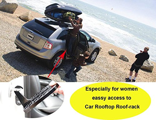 FOONEE Latch Doorstep, Car Doorstep With Safety Hammer Function/Car Folding Ladder for Easy Access to Car Rooftop Doorstep for Car/Jeep/SUV by FOONEE (Image #6)
