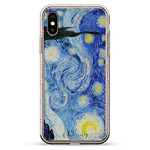 - STARRY NIGHT VAN GOGH | Luxendary Air Series Clear Silicone Case with 3D printed design and Air-Pocket Cushion Bumper for iPhone Xs Max (new 2018/2019 model with 6.5