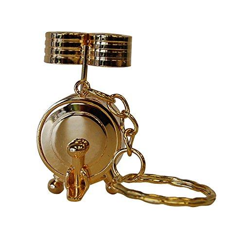 Gold Drum Set Keychain Gift for Drummer -