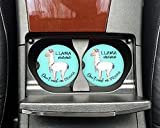 Llama Mama - Don't need no drama - Car coasters - Sandstone auto cup holder coasters - Mom mother gift - Gifts for young women
