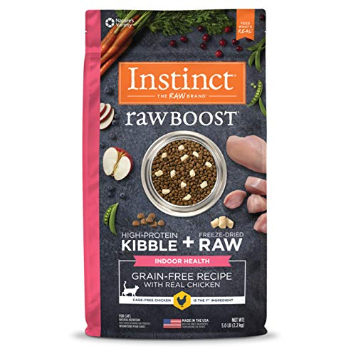 Instinct Raw Boost Indoor Health Grain Free Recipe with Real Chicken Natural Dry Cat Food by Nature's Variety, 5 lb. Bag