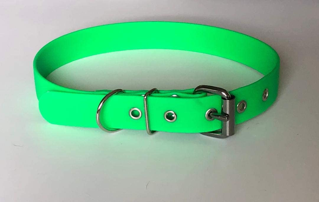 25mm Collier 1 imperm\u00e9able en Biothane pour chien 100/% vegan Vegan Biothane Dog Collar waterproof stink proof sans odeur