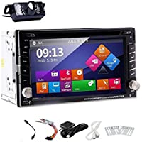 EinCar Windows 8 UI Rear Camera with 6.2-Inch Touch screen Double Din In Dash Car DVD Player Bundle with GPS Antenna, 4GB Memory Card and Accessories