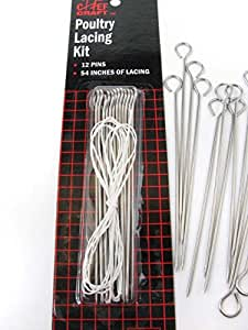 Chef Craft Poultry Lacing Kits. 24 Packs of 12