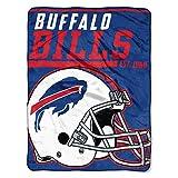 "NFL Buffalo Bills ""40-Yard Dash"" Micro Raschel Throw Blanket, 46″ x 60″"