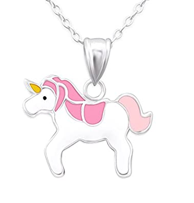 Magical Unicorn Design Cute Quirky Necklace Suitable For Adults or Children (in an Organza Gift Pouch ) Fashion Jewellery 4FEtaJ18OZ