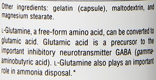 Source Naturals L Glutamine 500mg Free Form Amino Acid 50 Capsules