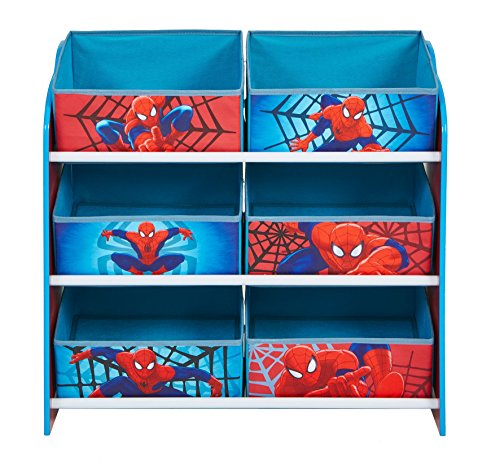 Marvel Spider-Man Kids Bedroom Storage Unit with 6 Bins by HelloHome