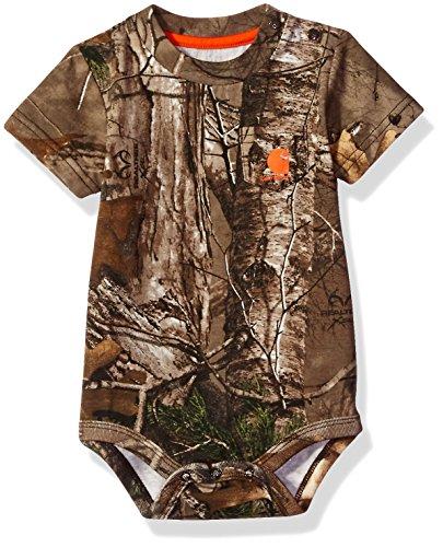 Carhartt Baby Boys' Short Sleeve Bodyshirt, Realtree Xtra Camo, 9M