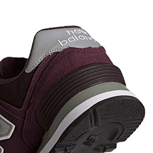 Sneakers Basses New Argent M574NBU Balance et Homme Bordeaux Blanc q7qw4CEt