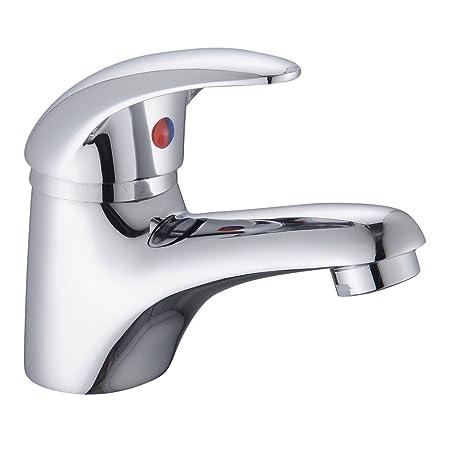 Home Standard Bathroom Single Lever Chrome Mono Basin Sink Mixer Tap ...