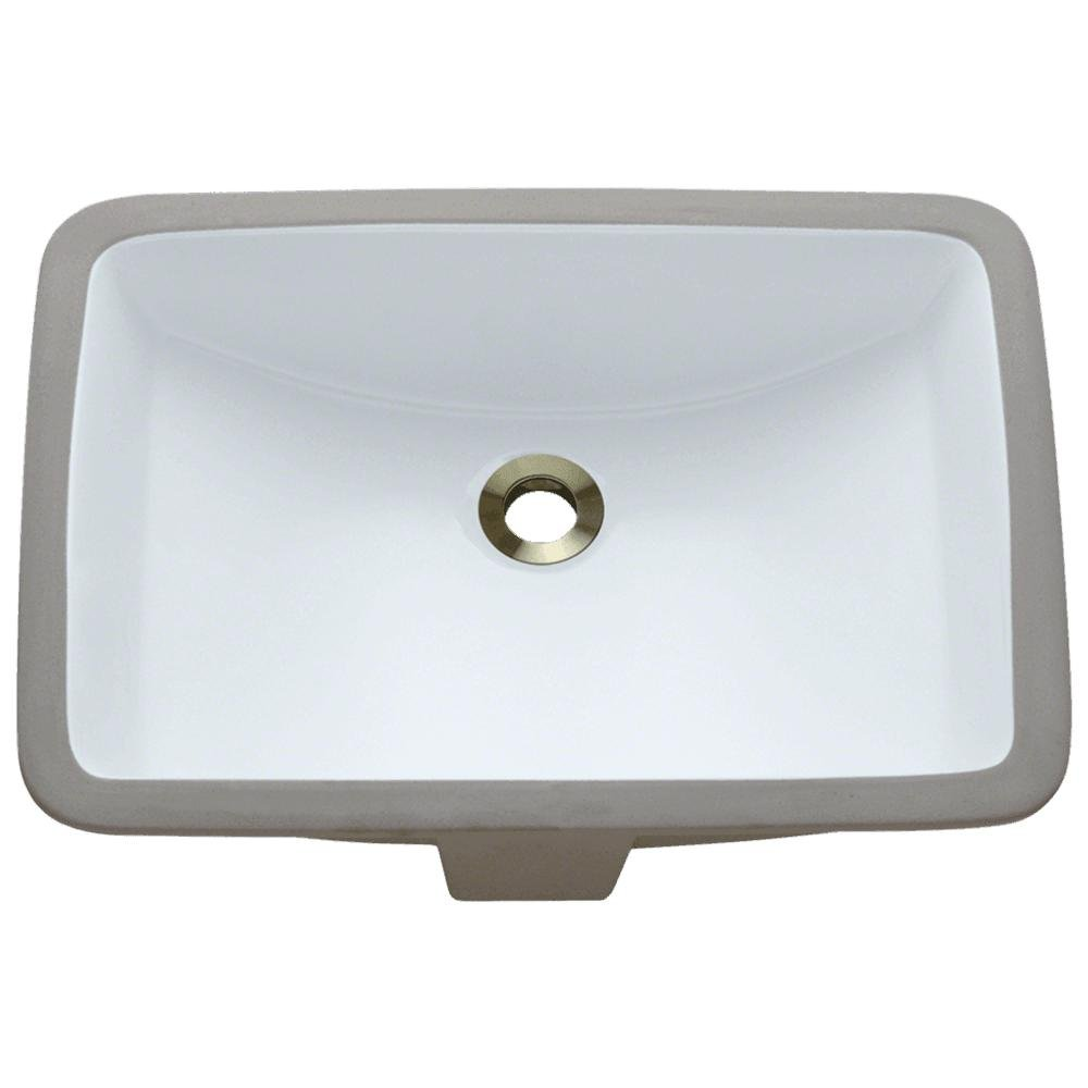 U1913-W White Undermount Porcelain Lavatory Sink - Vessel Sinks ...