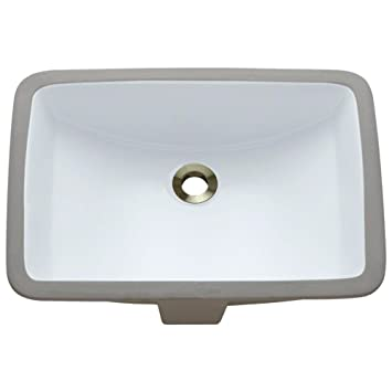 U1913 W White Undermount Porcelain Lavatory Sink