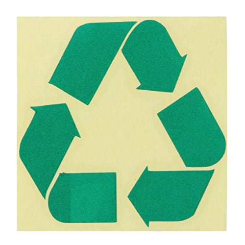 VORCOOL Recycle Logo Self-Adhesive Sticker Recycling Circle Symbol Labels Reflective Decal(Green)