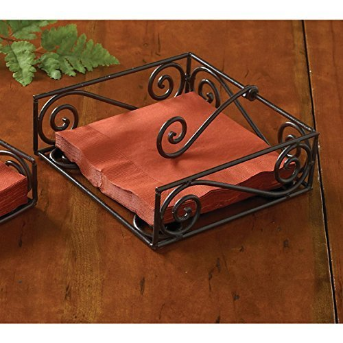 Village Scroll Lunch Napkin Holder by