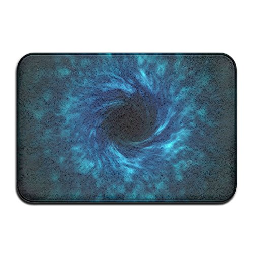 Homlife Rectangle Thin Doormats Artistic Black Hole Images Entrance Mat Non-Slip Indoor Outdoor Area Rug Bathroom Mats Coral Fleece Home Decor by Homlife