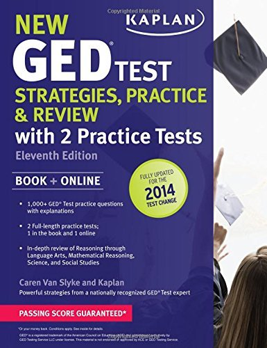 New GED???? Test Strategies, Practice, and Review with 2 Practice Tests: Book + Online ???? Fully Updated for the 2014 GED (Kaplan Test Prep) by Caren Van Slyke (2013-12-03)