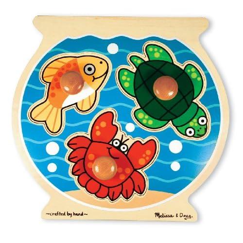Melissa & Doug 12056 - Puzzle À Gros Boutons - Aquarium