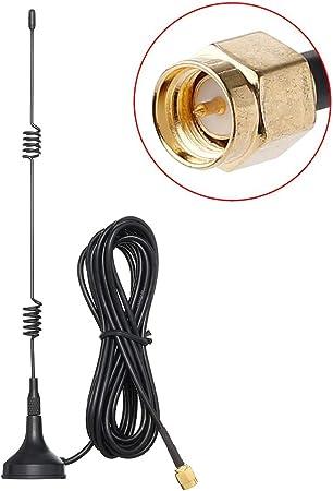 Tengko 2 4 Ghz Wifi Antenne Sma Stecker Mit Magnetfuß Computer Zubehör