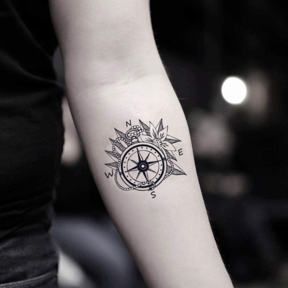 Tatuaje Temporal de Rosa de los vientos (2 Piezas) - www.ohmytat ...