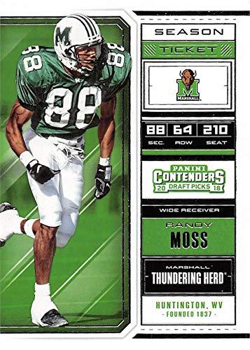 sports shoes d8047 3b12e Randy Moss football card (Marshall Thundering Herd) 2018 ...