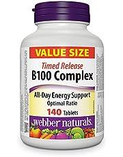 Webber Naturals B100 Complex, Tablet, Value Size, 100 mg, 140 Count