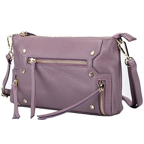 Lecxci Womens Leather Crossbody Shoulder