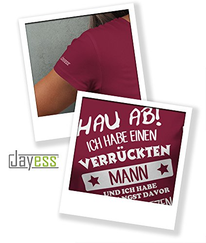Jayess Hau ab Ich Habe Einen Verrückten Mann Damen TShirt Sorbet ...