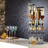 Cuteworld Wine Dispenser Bar Butler,6 Bottle Revolving Wine Dispenser