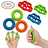 Yasmine Hand Resistance Bands Finger Stretcher Hand Extensor Exerciser Finger Grip Strengthener Strength for Relieve Joint Pain, Injury Rehabilitation,Relaxation and Rock Climbing (6pc-Green) Review