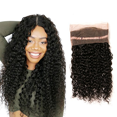 New Deep Wave Weave - Brazilian Deep Wave 360 Lace Frontal Pre Plucked Bleached Knots Lace Top Full Head Short 130 Density Deep Curly Bundles Remy Rain Wet And Wavy Thick Human Hair Next Day Delivery Items 12Inch