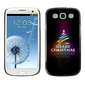diy phone caseYOYO Slim PC / Aluminium Case Cover Armor Shell Portection //Christmas Holiday Merry Neon Tree 1265 //Samsung Galaxy S3diy phone case