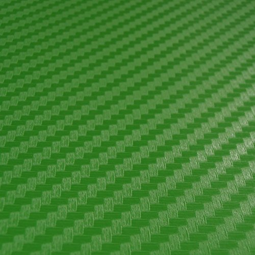 Kunfine in fibra di carbonio verde vinyl film Sheet Wrap roll auto Car DIY Decor sticker Car Wrap DIY auto tuning parte adesivo 127 cm*50 cm