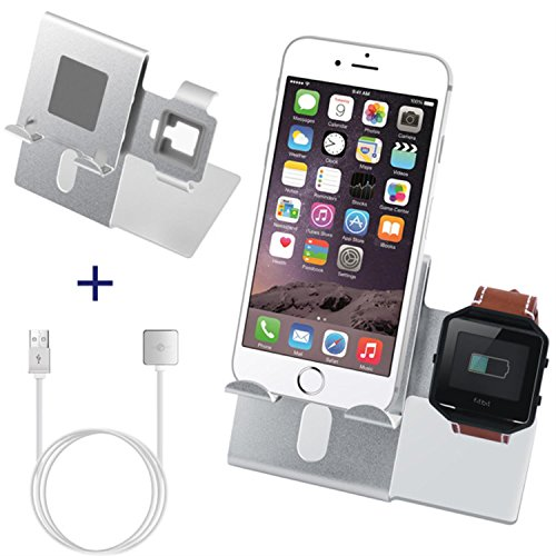 for Fitbit Blaze Charger Charging Stand Accessories - C2DJOY(2017 New Design) 2 in 1